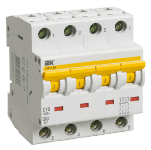 Автоматический выключатель ВА47-60 4Р 32А 6кА х-ка С IEK