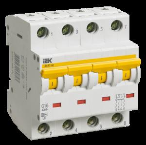 Автоматический выключатель ВА47-60 4Р 40А 6кА х-ка С IEK