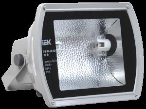 Прожектор металлогалогенный ГО02-70-02 асимметричный 70Вт Rx7s IP65 серый IEK