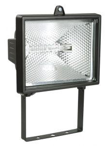 Прожектор галогенный ИО500 IP54 черный IEK