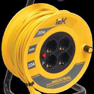 Катушка УК30 с термозащитой 4 места 2Р+PЕ/30м 3х1,5мм2 Industrial IEK