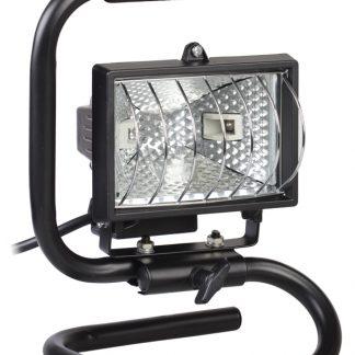 Прожектор галогенный ИО150П (переноска) IP54 черный IEK