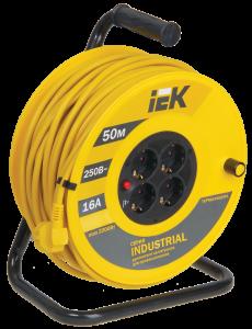 Катушка УК50 с термозащитой 4 места 2Р+PЕ/50м 3х1,5мм2 Industrial IEK