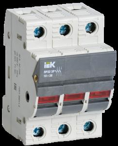 Предохранитель-разъединитель с индикацией ПР32 3P 10х38 32А IEK