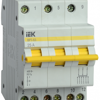 Выключатель-разъединитель трехпозиционный ВРТ-63 3P 25А IEK