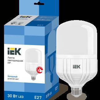 Лампа светодиодная HP 30Вт 230В 6500К E27 IEK