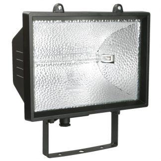 Прожектор галогенный ИО1000 IP54 черный IEK