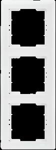 Рамка 3-местная вертикальная РB-3-ББ BOLERO белый IEK