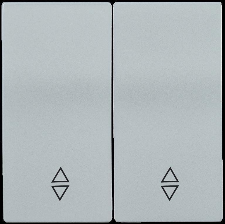 Накладка 2 клавиши для выключателя проходного HB-2-2-БС BOLERO серебряный IEK