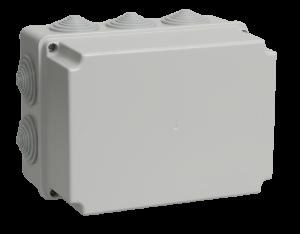 Коробка распаячная КМ41246 для о/п 190х140х120мм IP55 (RAL7035, 10 гермовводов) IEK