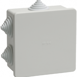 Коробка распаячная КМ41235 для о/п 85х85х40мм IP44 (RAL7035, 6 гермовводов) IEK