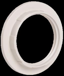 Кольцо к патрону Е27 пластик белый (индивидуальный пакет) IEK