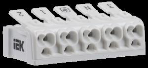 Клемма пружинная соединительная КСП5-3L+N+PE IEK