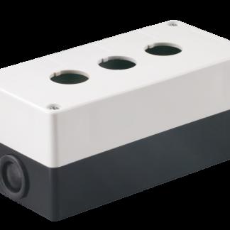 Корпус поста КП103 для кнопок управления 3 места белый IEK