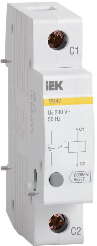 Расцепитель независимый РН47 на DIN-рейку IEK