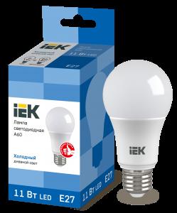 Лампа светодиодная ECO A60 шар 11Вт 230В 6500К E27 IEK