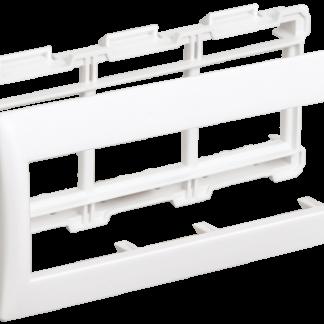Рамка и суппорт для кабель-канала ПРАЙМЕР на 6 модулей 75мм белые IEK
