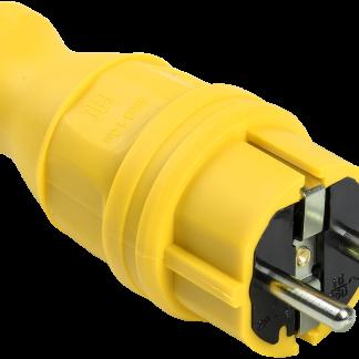 Вилка прямая ВБп3-1-0м IP44 ОМЕГА жёлтая IEK