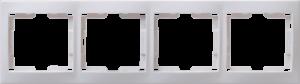 Рамка 4-местная горизонтальная РГ-4-КБ КВАРТА белый IEK