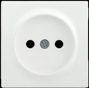 Накладка розетка НР-1-0-ББ без заземляющего контакта BOLERO белый IEK