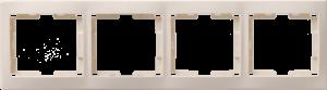 Рамка 4-местная горизонтальная РГ-4-ККм КВАРТА кремовый IEK