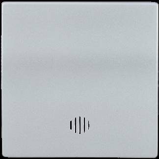 Накладка 1 клавиша с индикацией HB-1-1-БС BOLERO серебряный IEK