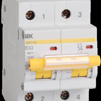 Автоматический выключатель ВА47-100 2Р 16А 10кА х-ка С IEK