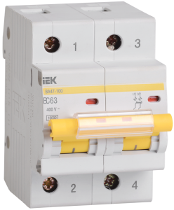 Автоматический выключатель ВА47-100 2Р 10А 10кА х-ка С IEK