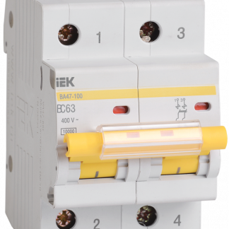 Автоматический выключатель ВА47-100 2Р 50А 10кА х-ка С IEK