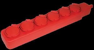 Удлинитель У06В 6 мест с защитными крышками IP44 2Р+PE/5м 3х1мм2 16А/250В IEK