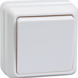 Выключатель 1-клавишный для открытой установки ВС20-1-0-ОКм 10А ОКТАВА кремовый IEK