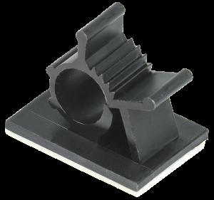 Клипса самоклеящаяся КС-10 черная (24шт) IEK