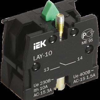 Контактный блок 1з для серии LAY5 IEK
