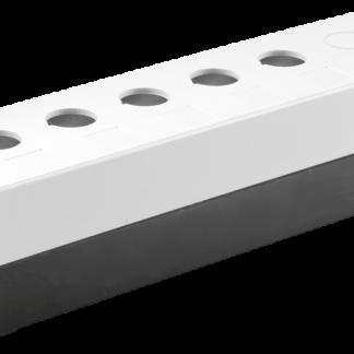 Корпус поста КП105(6) для кнопок управления 5(6) мест белый IEK