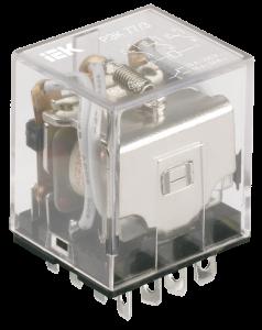 Реле промежуточное РЭК77/4(LY4) с индикацией 10А 12В DC IEK