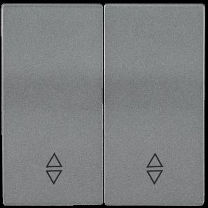Накладка 2 клавиши для выключателя проходного HB-2-2-БА BOLERO антрацит IEK
